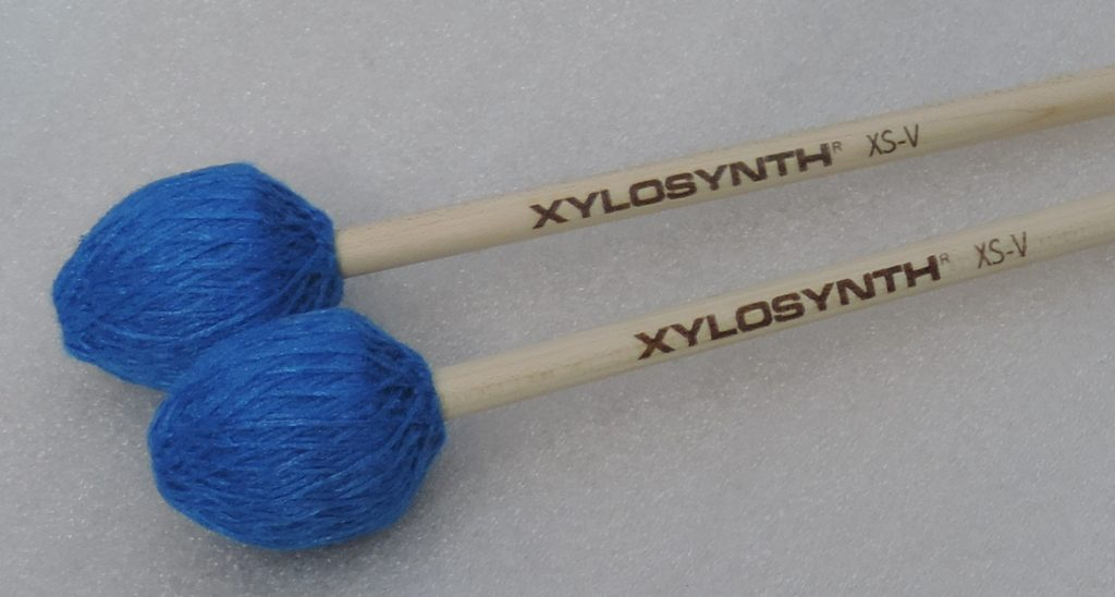Wernick Birch Handle Vibraphone Style Electric Blue Cord Mallets