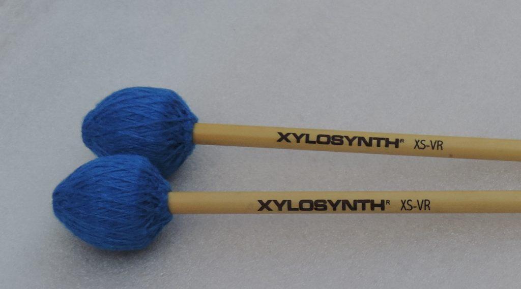 Wernick Rattan Handle Vibraphone Style Electric Blue Cord Mallets